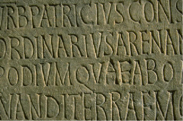 Picture of Latin text